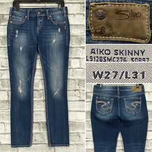 Silver Jeans Aiko Skinny W27 L31 Destroyed Stretch